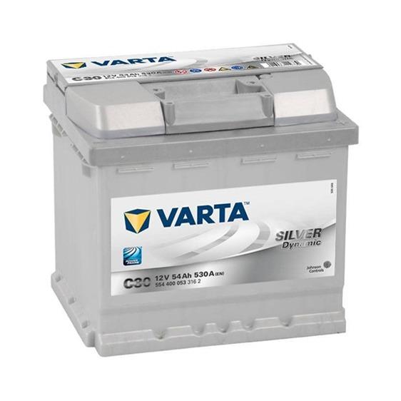 Varta C30 Silver MF Battery 52Ah 530CCA (Din44H)