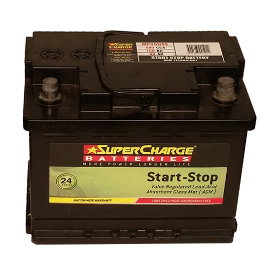 Supercharge Batteries AGM MF55HHS
