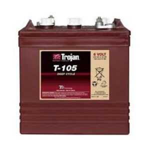 Trojan T105 6V Deep Cycle Wet Battery