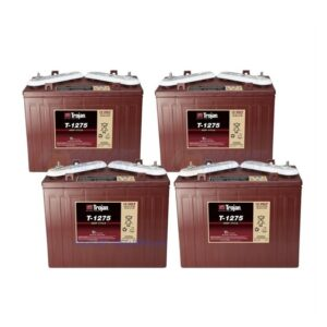 Trojan T1275 Set of 4. 48V Golf Cart Batteries
