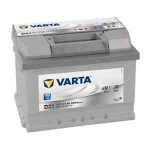 Varta D21 Silver MF Battery 61Ah 600CCA (Din55)