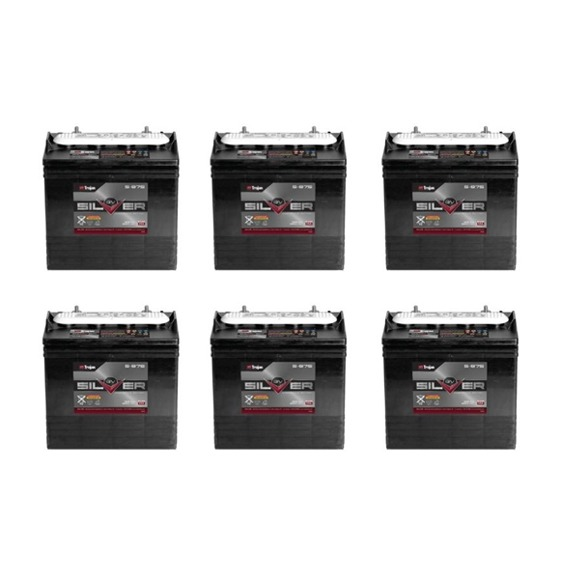 Trojan S875 Set of 6 Golf Cart Battery