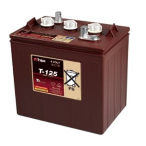 Trojan T125 6V Deep Cycle Wet Battery
