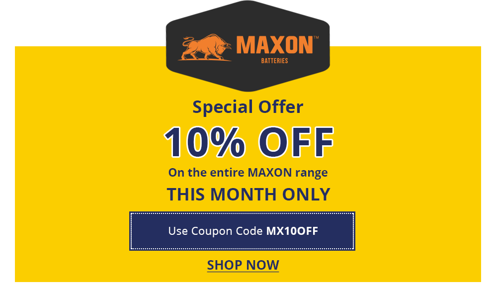 Maxon Battery Offer